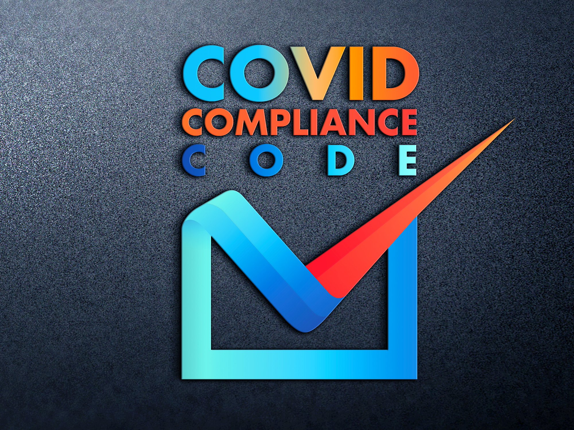 Black Background Covid Compliance Code