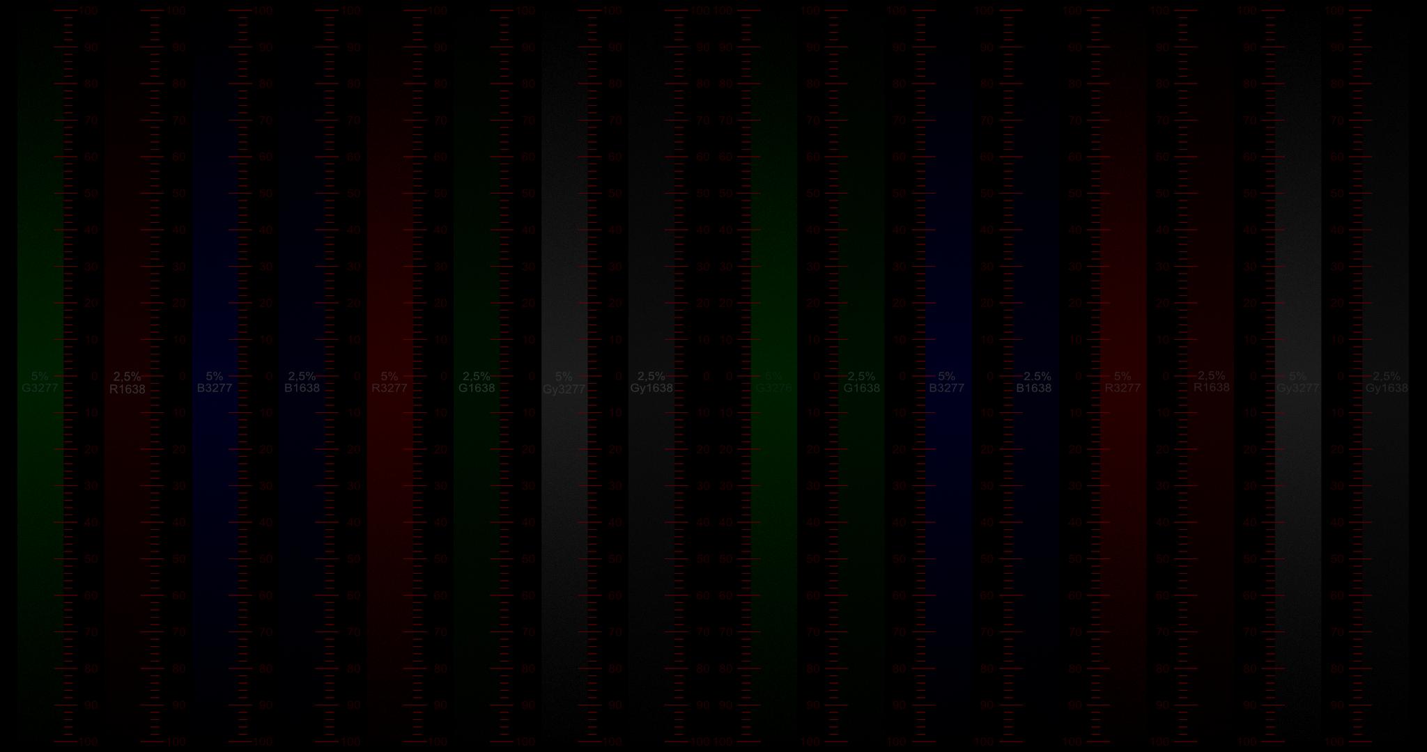 Metro verticale di ogni colore primario e nero con 2 luminanze diverse.